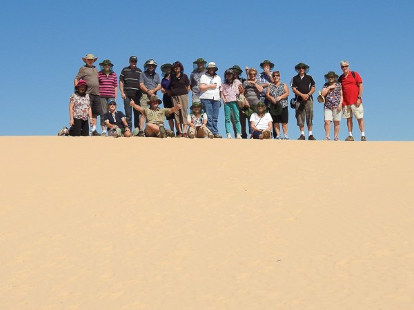 On top of the Mungo Lunette - Ballarat Probus Club